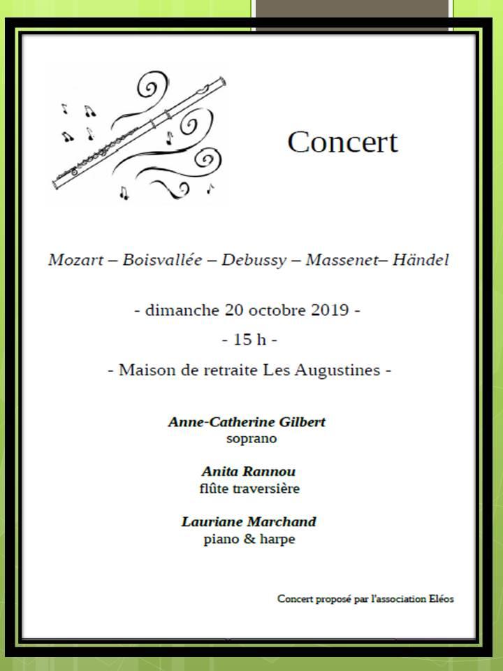 Concert le 20/10/2019